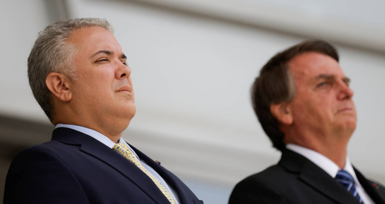 Jair Bolsonaro e Ivan Duque