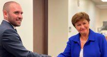 Ministro Guzmán e Georgieva, do FMI